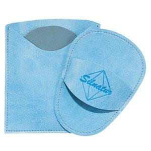 manopla depilatoria de silicio Silnatur color azul cielo